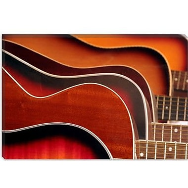 iCanvas Acoustic Guitar Photographic Print on Canvas; 26'' H x 40'' W x 0.75'' D