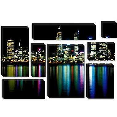 iCanvas Downtown City Lights Photographic Print on Wrapped Canvas; 40'' H x 60'' W x 1.5'' D