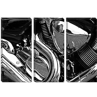 iCanvas Cars and Motorcycles 'Engine Grayscale ll' Photographic Print on Canvas