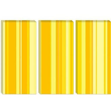 iCanvas Striped Banana Milkshake Graphic Art on Canvas; 12'' H x 18'' W x 0.75'' D