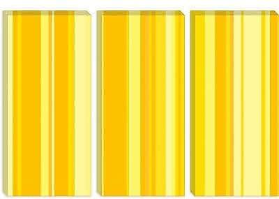iCanvas Striped Banana Milkshake Graphic Art on Canvas; 12'' H x 18'' W x 1.5'' D