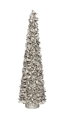 Dekorasyon Layered Cotton Cone Tree; Silver