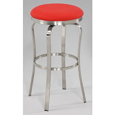 Chintaly Modern 29.92'' Bar Stool; Red