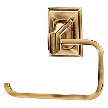 Alno Geometric Wall Mounted Single Post Toilet Paper Holder; Polished Antique