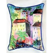 Betsy Drake Interiors Coastal Fun City II Indoor/Outdoor Lumbar Pillow