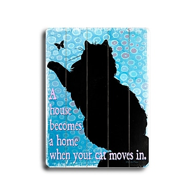 Artehouse LLC Cat Moves in Planked by Kate Ward Thacker Graphic Art Plaque