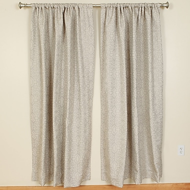 The Pillow Collection Rod Pocket Curtain Panels (Set of 2); 50'' W x 84'' L
