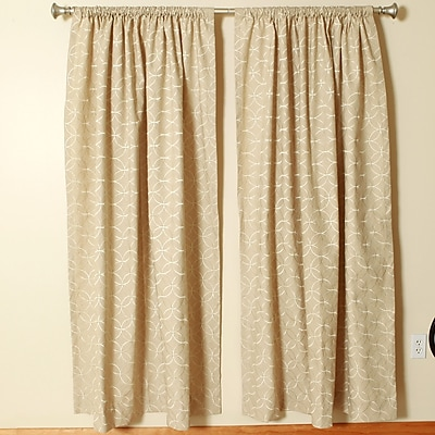 The Pillow Collection Rod Pocket Curtain Panels (Set of 2); 50'' W x 72'' L