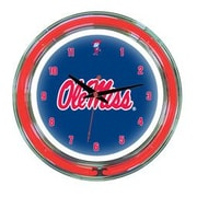 Wave 7 NCAA 14'' Team Neon Wall Clock; Ole Miss
