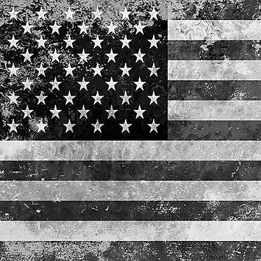 iCanvas Flags U.S.A. - Grunge Graphic Art on Wrapped Canvas; 18'' H x 18'' W x 0.75'' D