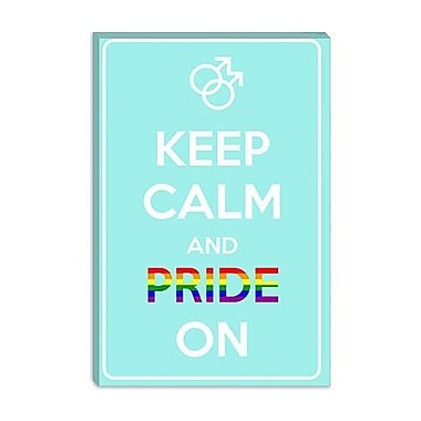 iCanvas Keep Calm and Pride on Graphic Art on Canvas; 12'' H x 8'' W x 0.75'' D