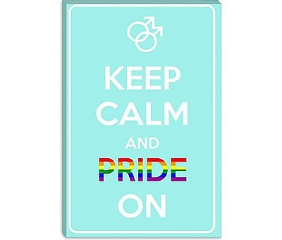 iCanvas Keep Calm and Pride on Graphic Art on Canvas; 26'' H x 18'' W x 0.75'' D