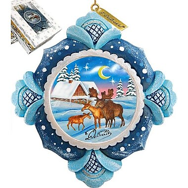G Debrekht Moose Family Ornament