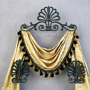 Menagerie Casa Artistica Peacock 21.5'' Curtain Valance; Black