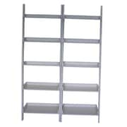 International Concepts 76'' Leaning Bookcase (Set of 2); White