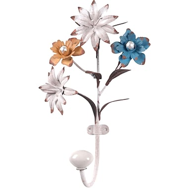 Wilco Home Flower Metal Wall Hook