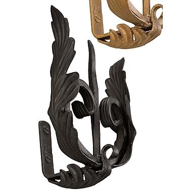 Menagerie Casa Artistica Forked w/ Leaf Curtain Holdback (Set of 2); Black