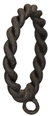 Menagerie Casa Outdoor Braided Curtain Ring (Set of 8); Black