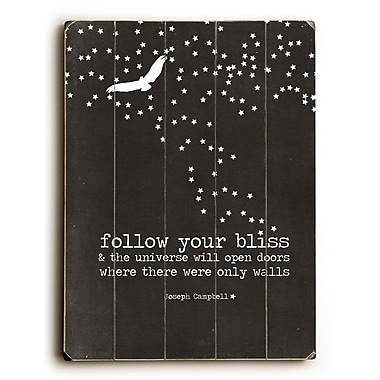 Artehouse LLC Follow Your Bliss by Cheryl Overton Graphic Art Plaque