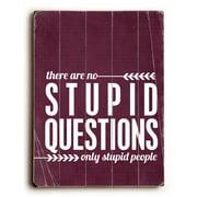 Artehouse LLC Stupid Questions by Cheryl Overton Textual Art Plaque