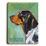 Artehouse LLC Bluetick Coon Hound by Ursula Dodge Graphic Art Plaque