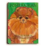 Artehouse LLC Pomeranian by Ursula Dodge Graphic Art Plaque