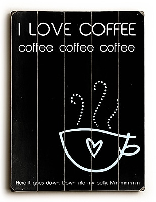 Artehouse LLC I Love Coffee by Cheryl Overton Textual Art Plaque