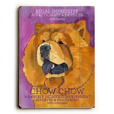 Artehouse LLC Chow Chow by Ursula Dodge Graphic Art Plaque