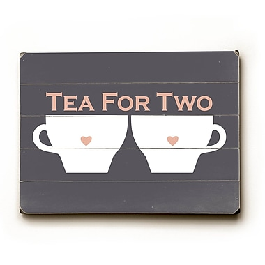 Artehouse LLC Tea for Two by Amanada Catherine Graphic Art Plaque