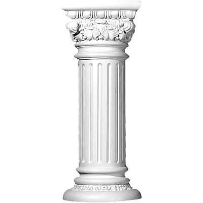 Ekena Millwork Acanthus 33 1\/2'' H x 13 3\/4'' W x 14 1\/8'' D Plant Stand Column