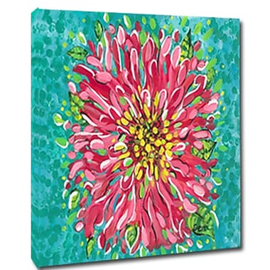 My Island Bright Pink Blossom Mounted by Gerri Hyman Painting Print on Canvas