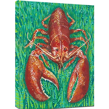 My Island Lobster Mounted by Gerri Hyman Painting Print on Canvas