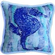 My Island Seahorse Indoor/Outdoor Throw Pillow