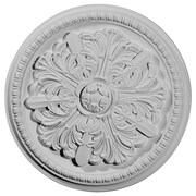 Ekena Millwork Swindon 16.88''H x 16.88''W x 1.5''D Ceiling Medallion