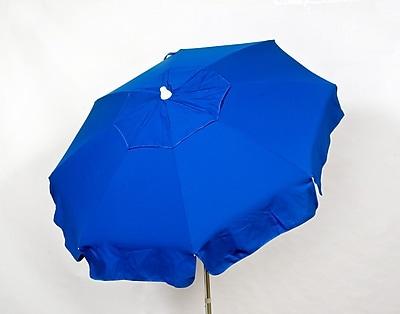 Parasol Italian 6' Drape Umbrella; Blue