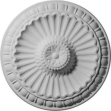 Ekena Millwork Linus 11.25''H x 11.25''W x 1.13''D Ceiling Medallion