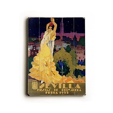 Artehouse LLC Sevilla Vintage Advertisement Plaque