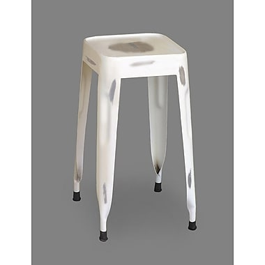 Timbergirl Tall Stool; White Distressed