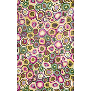 Liora Manne Fantasy Pop Swirl Spring Hand Tufted Wool Pink Area Rug; Rectangle 8' x 10'