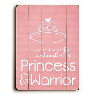 Artehouse LLC Princess & Warrior by Cheryl Overton Textual Art Plaque