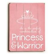 Artehouse LLC Princess & Warrior by Cheryl Overton Textual Art Plaque