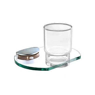 Alno Euro Tumbler and Tumbler Holder; Polished Chrome