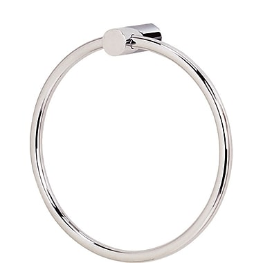 Alno SPA 1 Wall Mounted Towel Ring; Polished Nickel