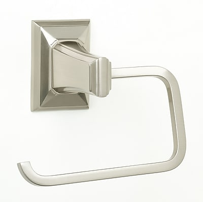 Alno Geometric Wall Mounted Single Post Toilet Paper Holder; Polished Chrome