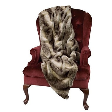 Queens of Christmas Chinchilla Faux Fur Throw Blanket