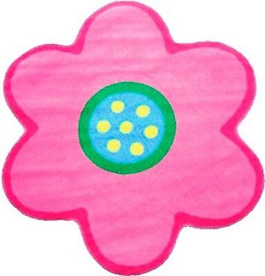 Fun Rugs Fun Time Shape Poppy Light Pink Kids Area Rug; Flower 3'3'' x 3'3''