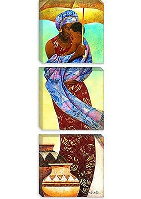 iCanvas ''Siku, Day'' by Keith Mallett Painting Print on Canvas; 36'' H x 12'' W x 0.75'' D