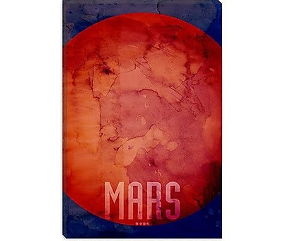 iCanvas 'The Planet Mars' by Michael Thompsett Painting Print on Wrapped Canvas