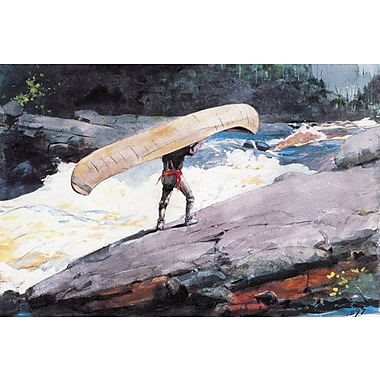 iCanvas 'The Portage 1897' by Winslow Homer Painting Print on Canvas; 12'' H x 18'' W x 1.5'' D