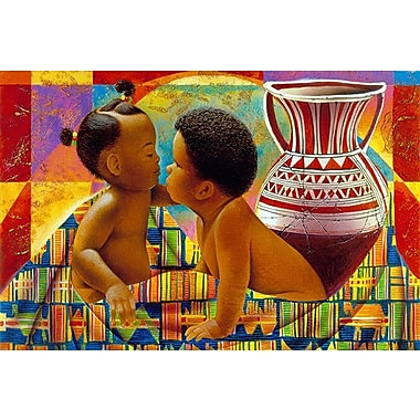 iCanvas ''Treasures of Africa'' by Keith Mallett Painting Print on Wrapped Canvas